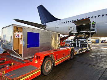 Loading Plane with Cargo